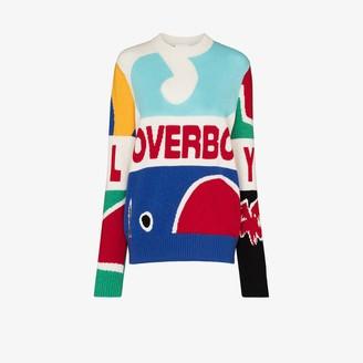 Charles Jeffrey Loverboy Graphic motif wool sweater