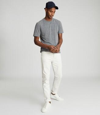 Reiss Atlanta - Melange Crew Neck T-shirt in Grey