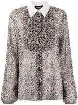 Rochas Floral Print Bell Sleeve Shirt