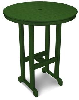"Polywood La Casa Cafe Bar Table Color: Hunter Green, Table Size: 36"""
