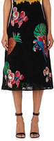 Valentino Women's Tropical-Patch Cotton Guipure-Lace Skirt