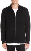 RVCA Zig Zag Waffle Knit Zip Shawl Collar Sweater