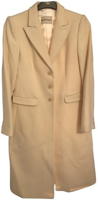 Emporio Armani Beige Wool Coat for Women