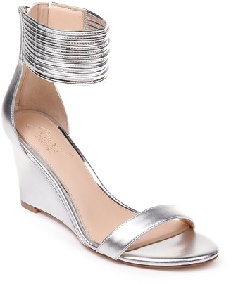 Badgley Mischka Starry Ankle Strap Wedge Sandal