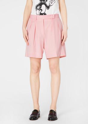 Paul Smith Women's Light Pink Wool Tailored Shorts