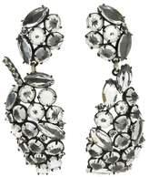 Lulu Frost Silver-Plated Diamanda Statement Leaf Earrings