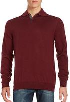 Black Brown 1826 Collared Merino Wool Sweater