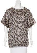 Yigal Azrouel Silk-Blend Jacquard Top w/ Tags