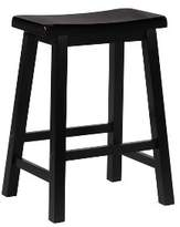 Powell Company Saddle Seat Counter Stools Hardwood/Black - Oak Grove Collection
