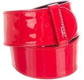 Alexander McQueen Patent Leather Waist Belt