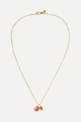Pippa Small 18-karat Gold Ruby Necklace - one size