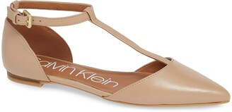 Calvin Klein 'Ghita' T-Strap Flat
