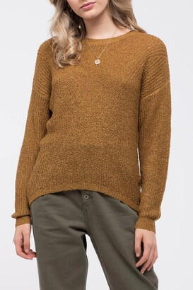 Blu Pepper Back Keyhole Cutout Knit Sweater