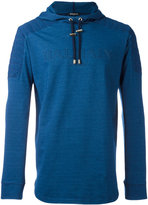 Balmain quilted logo hoodie - men - Cotton/Spandex/Elastane - S