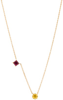 Ileana Makri Round & Square Necklace in Metallics.