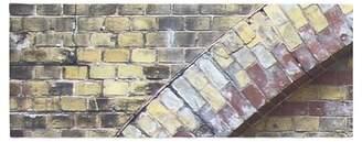 East Urban Home Susan Sanders Painted Grunge Brick Wall Bed Runner East Urban Home