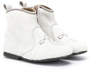 Pépé Kids Textured Ankle Boots