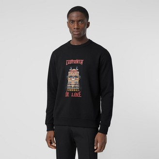 Burberry Slogan Print Cotton Sweatshirt