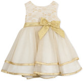 Rare Editions Baby Girls' Ivory & Gold Ballerina Dress