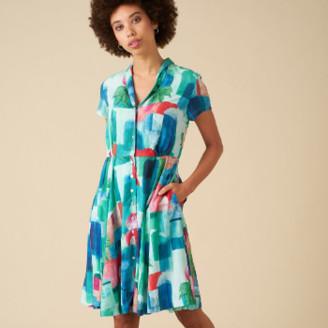 Emily And Fin Hailey Marrakech Landscape Shirt Dress - 8