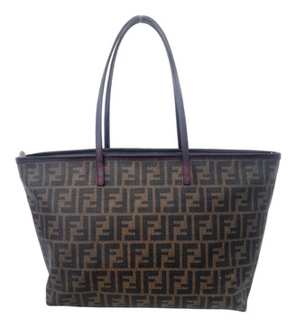 Fendi Roll Bag Brown Cloth Handbags