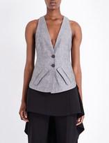 Antonio Berardi Cutout linen-blend waistcoat