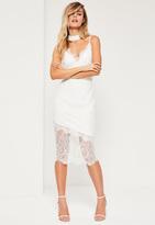 Missguided White Lace Cami Midi Dress