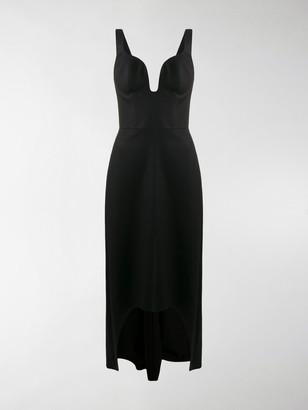 Alexander McQueen Bustier Neckline High-Low Dress