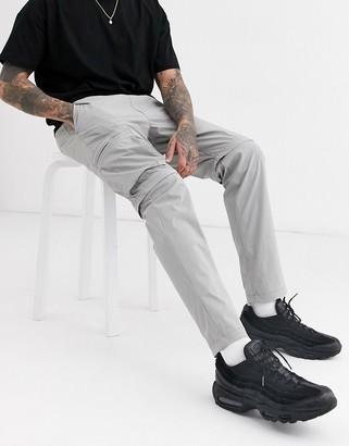 Jack and Jones Core zip leg cargo trousers in grey