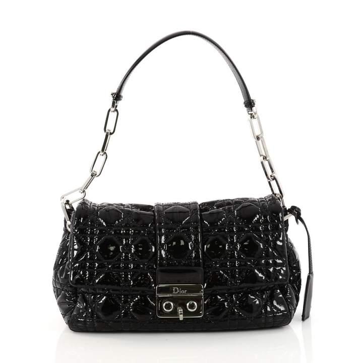 Christian Dior New Lock patent leather handbag