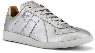 Maison Margiela Replica Low Top in Metallic Grey | FWRD