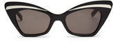Karen Walker Babou shrunken cat-eye sunglasses