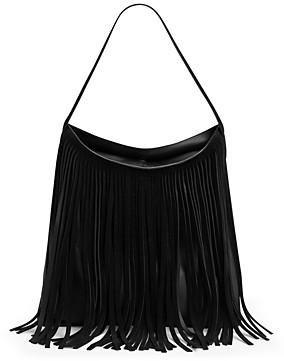 Gerard Darel Lady Hair Fringed Leather Shoulder Bag