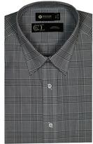 Haggar Men's Long Sleeve Glen Plaid Dress Shirt