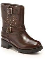 Un Deux Trois Girl's Leather Biker Boots