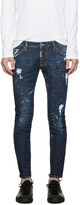 DSQUARED2 Blue Gold Rush Clement Jeans