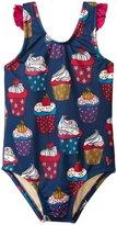 Pink Chicken Zoe Cupcake Swim Suit (Baby) - Estate Blue Cupcake - 6-12 Months