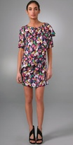 Short Falling Ruffle Dress