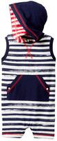 Coccoli Stripe Hooded Sleeveless Romper (Baby Boys)
