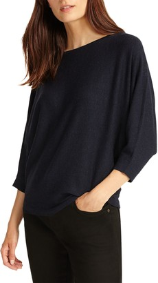 Phase Eight Cristine Batwing Jumper, Navy