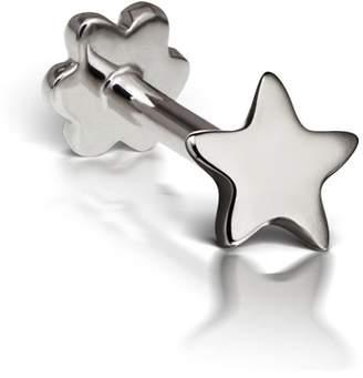 Maria Tash 3mm Plain Star Thread Through Single Earring - White Gold