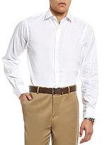 Hart Schaffner Marx Diamond Texture Long-Sleeve Sportshirt