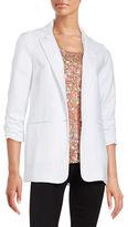 MICHAEL Michael Kors Linen On-Button Blazer
