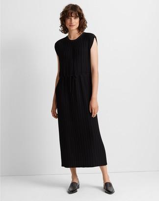 Club Monaco Woven Pleated Maxi Dress