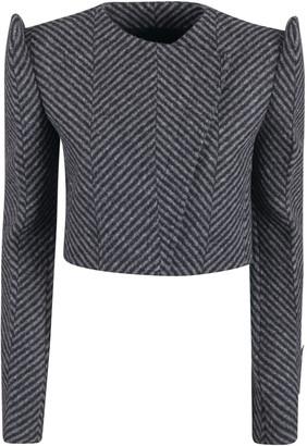 Off-White Chevron Shoulder Crop Jacket