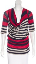 Vivienne Westwood Striped Cowl Neck Top
