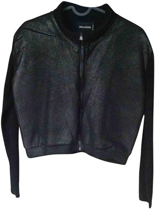 Zadig & Voltaire Black Suede Leather jackets