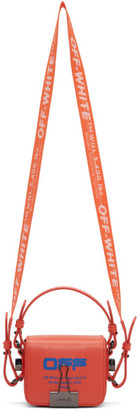 Off-White Off White Orange Wavy Logo Baby Flap Bag