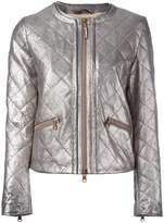 Eleventy metallic quilted jacket
