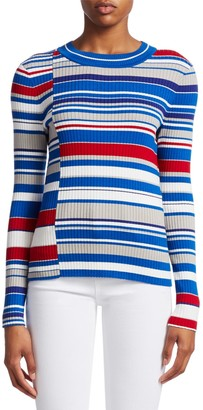 Rag & Bone Mason Mixed Stripes Knit Sweater